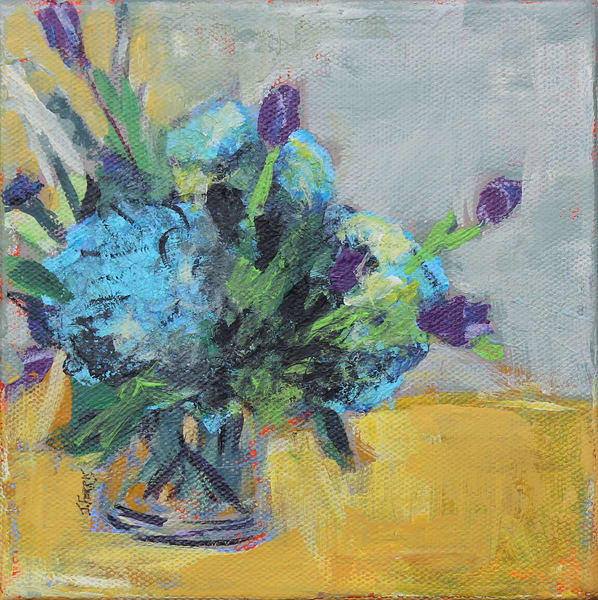 "Print Of ""Blue Hydrangeas"" Art | Jennifer Ferris"