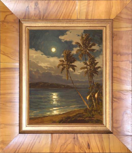 Lahaina Moon Framed Olive Wood
