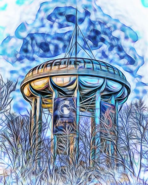 Sudbury Water Tower - Downtown Sudbury Art Crawl, Fine-Art Print