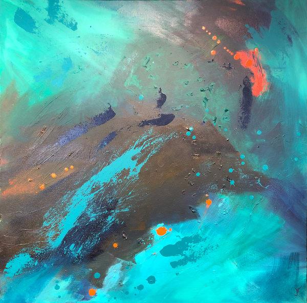 Under The Wave #3 (Original) Art | Jen Sterling LLC