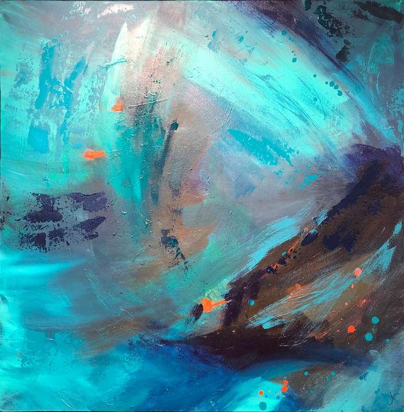 Under The Wave #2 (Original) Art | Jen Sterling LLC