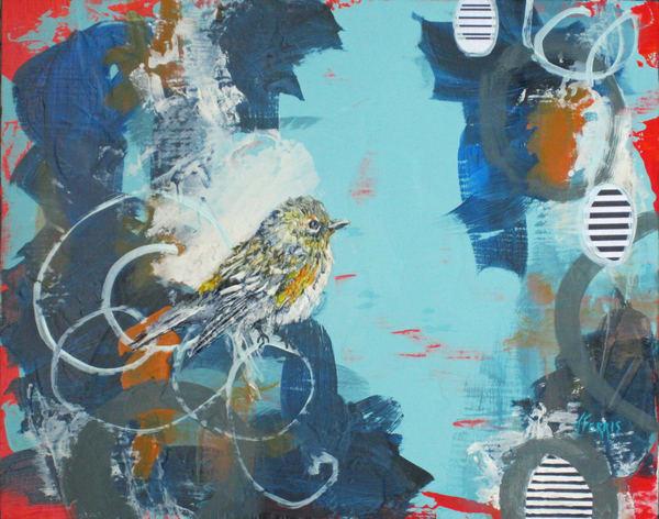 "Print Of ""Makes Me Happy"" Art   Jennifer Ferris"