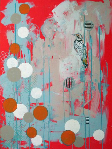 """Print Of """"Northern Flicker"""" Art   Jennifer Ferris"""