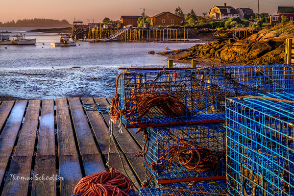 Coastal Maine Harbors fine art photography prints | The fishing village of Corea at sunrise