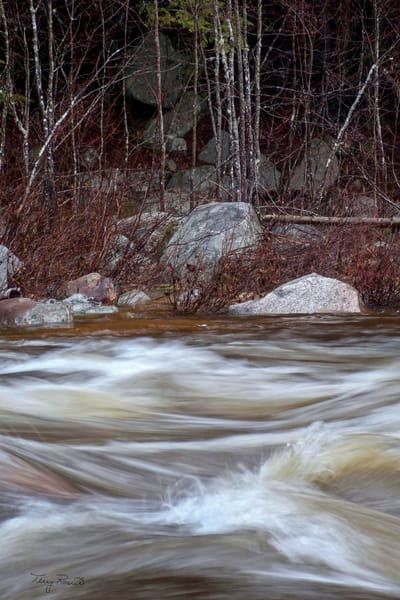 Swirling Waters Along the Kancamagus Trail by Terry Rosiak