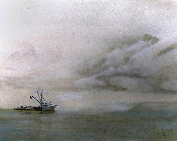 Valdez in Fog by Terry Rosiak
