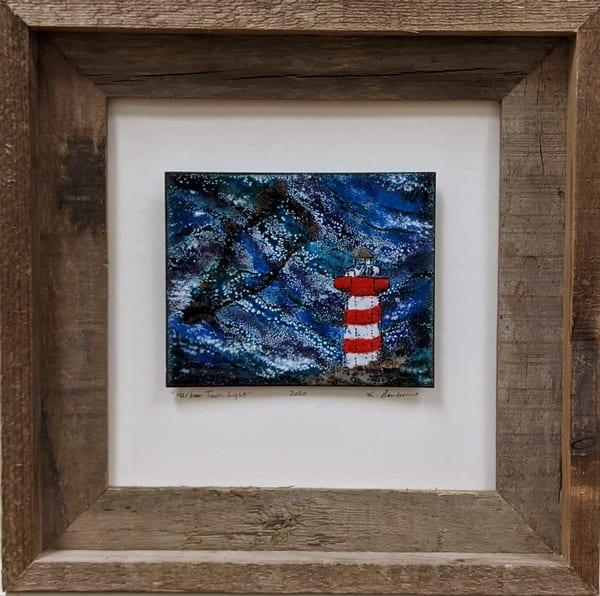 Kellie Gambino - original artwork - enameling - lighthouse - Hilton Head - beach - Harbour Town Light