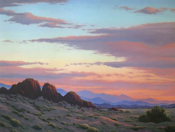 Desert Mountain Sunset  Art | Terry Sauve Fine Art