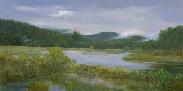 *Foggy Morning From The Saranac Gun Club* Art | Tarryl Fine Art