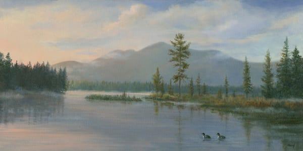 *St. Regis Mountain Wtih Loons* Art   Tarryl Fine Art