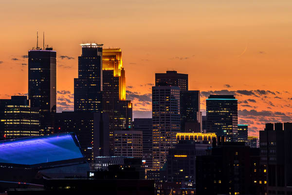 Crescent Moon Minneapolis Photography Art | William Drew Photography