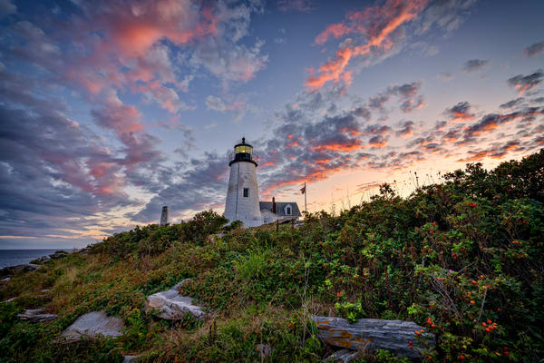 Red Skies At Pemaquid Point | Shop Photography by Rick Berk