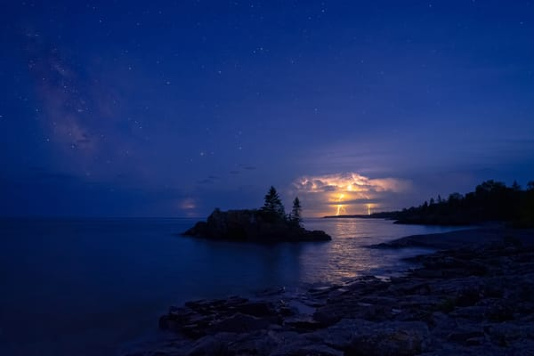 A Thunderstorm And The Milky Way At Hollow Rock Photography Art | William Drew Photography