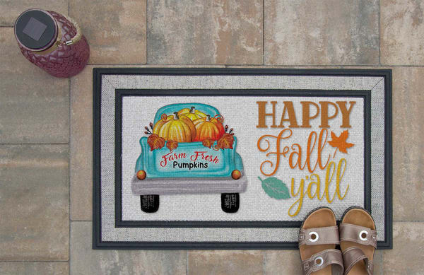 Happy Fall Y'all Doormat