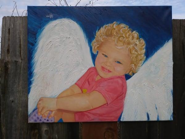 Custom Angel Portrait Art | Coat Of Many Colors