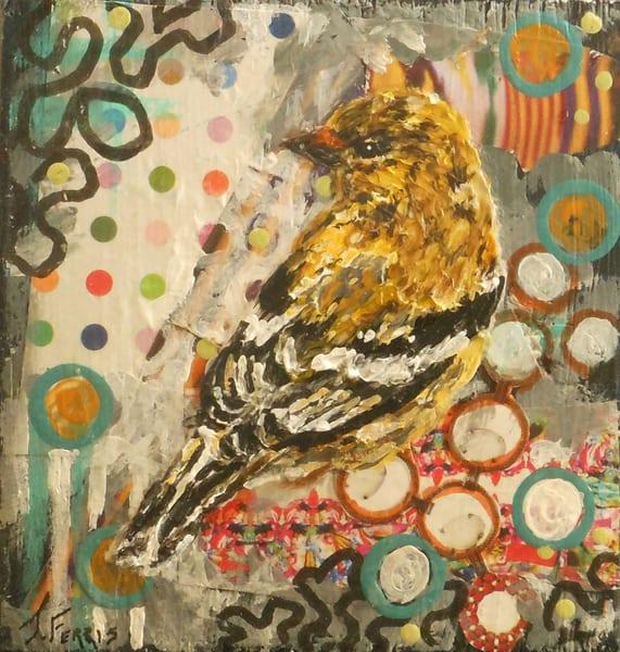 "Print Of ""Dot, Dot, Dot (Goldfinch)"" Art | Jennifer Ferris"