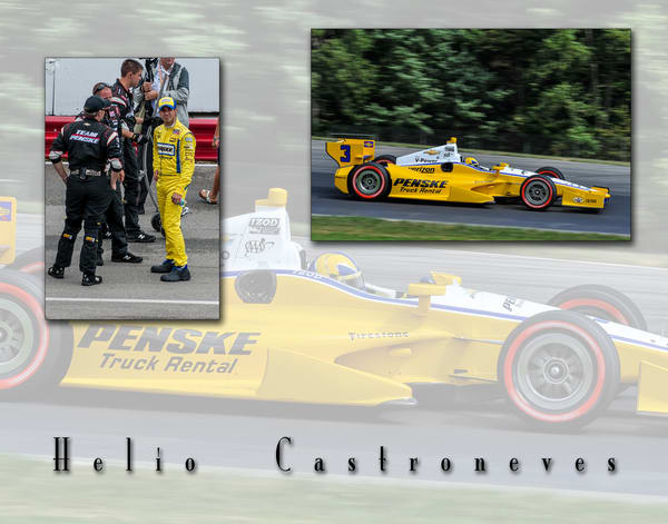 Helio Castroneves Poster Photography Art | Cardinal ArtWorks LLC