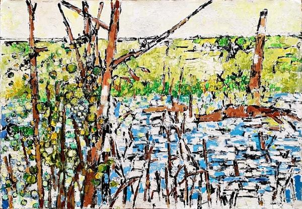 Wetland: Single Tree Art | Fountainhead Gallery