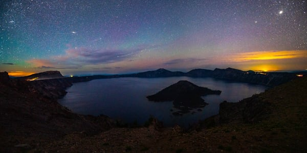 Airglow Above Wizards Expanse Photography Art   Call of the Mountains Photography