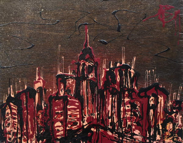 City In Burgundy Art | buchanart