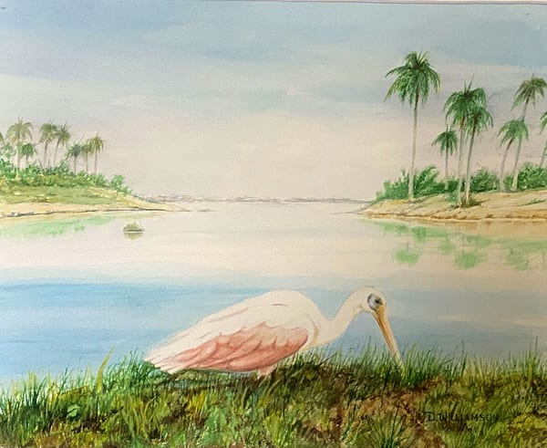 Calm Lagoon, Original Watercolor Painting
