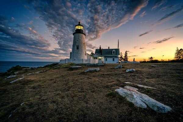 Twilight at Pemaquid Point | Shop Photography by Rick Berk