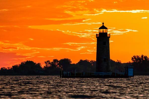 Lake St. Clair River Lighthouse Pastel Sunrise - Michigan fine-art photography prints