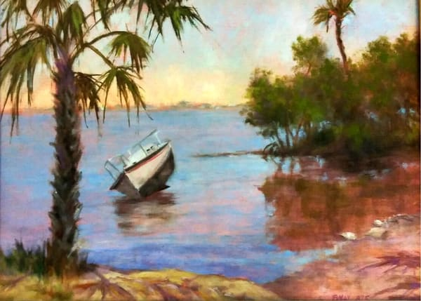 Castaway at the Point, Original Oil Painting