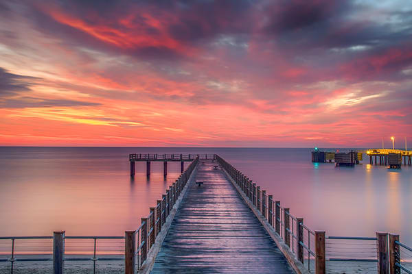 Oak Bluffs Fishing Pier Late Summer Sunrise Art | Michael Blanchard Inspirational Photography - Crossroads Gallery