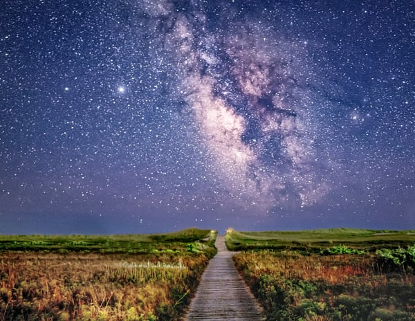 South Beach Milky Way Path Art | Michael Blanchard Inspirational Photography - Crossroads Gallery