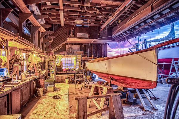 Gannon & Benjamin Boatyard Morning Art | Michael Blanchard Inspirational Photography - Crossroads Gallery