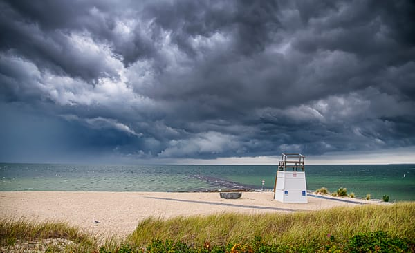 Inkwell Beach Storm Clouds Art | Michael Blanchard Inspirational Photography - Crossroads Gallery