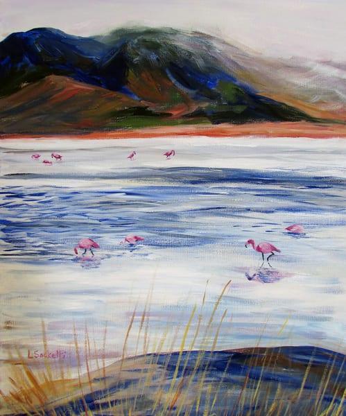 Dinner In The Lagoon, Bolivia Art | Linda Sacketti