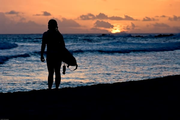 Waiting Surfer Silhouette