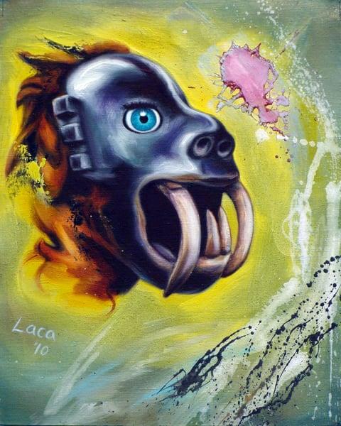 Mask With Canine Teeth Art | Mathieu Laca