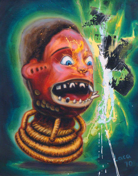 Gap Toothed Mask Art | Mathieu Laca