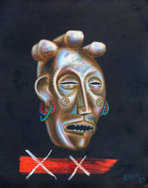 Tribal Mask I Art | Mathieu Laca