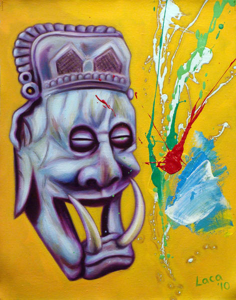 Zen Mask Art | Mathieu Laca