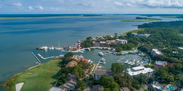 Aerial Photo of Harbour Town Marina