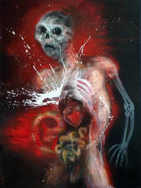 Flayed Figure Study Art   Mathieu Laca