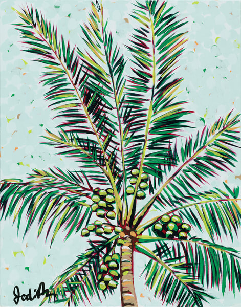Palms I. An original tropical print by Jodi Augustine.