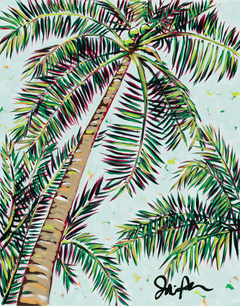 Palms II. Original print by Jodi Augustine Art.