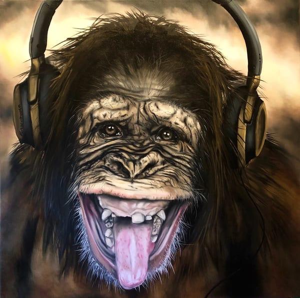 """Funky Monkey"" Open Edition Print | artloversgallery"