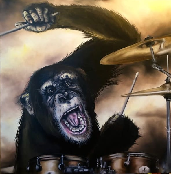 """""""Fire Coming Out Of A Monkey's Head"""" Open Edition Print 