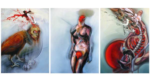 White Triptych Art | Mathieu Laca