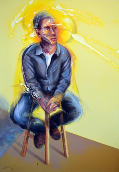 Autoportrait Au Fond Jaune Art   Mathieu Laca