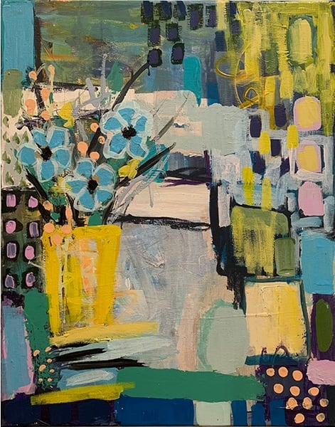 The Yellow Vase (Original Painting) Art | Jennifer Ferris
