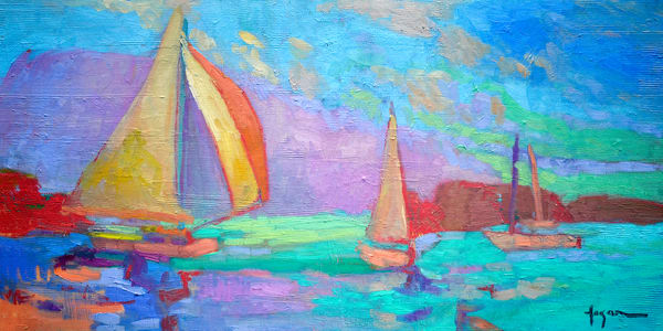 Wind In My Sail Art | Dorothy Fagan Joy's Garden
