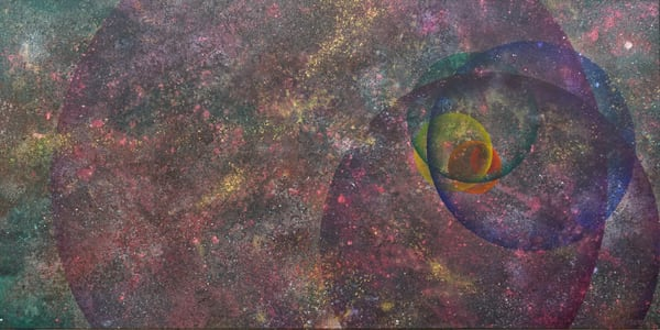 Infinite Vortex - Abstract painting of the multiverse by David Copson