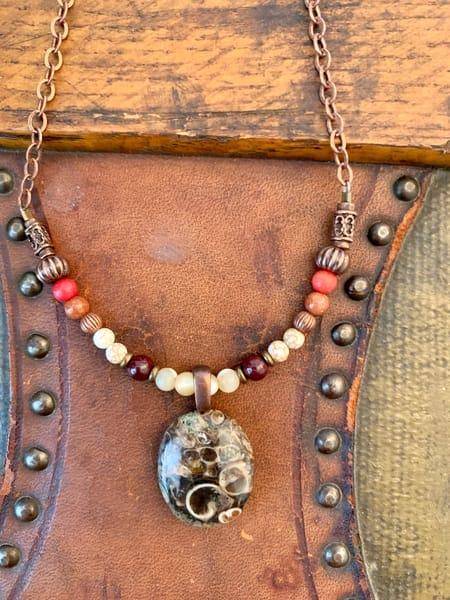 Fancy Fossil Necklace Art | Mickey La Fave